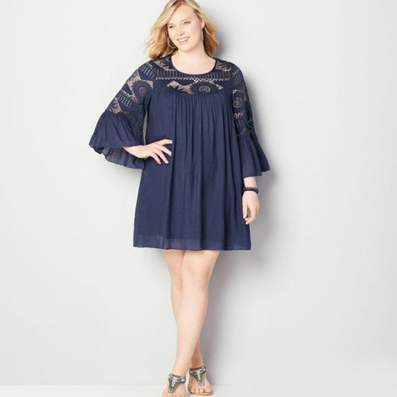 Avenue Dresses Host Pick Nwt Babydoll Plus Size Dress Poshmark